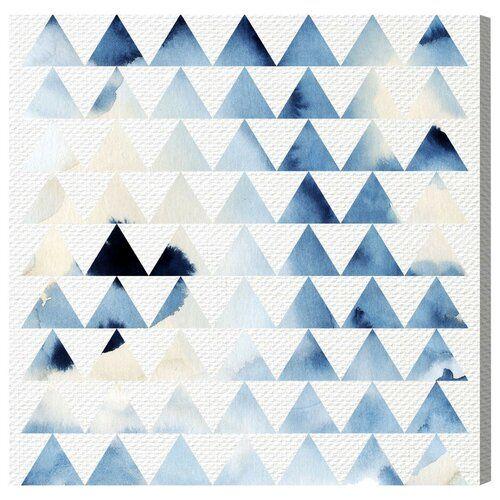 Oliver Gal 'Geometric Ocean' Wall Art Print East Urban Home Size: 40.6 cm H x 40.6 cm W x 3.8 cm D