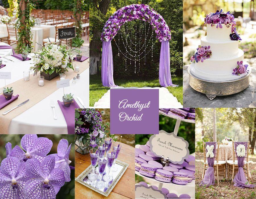 Аметистовая свадьба открытки