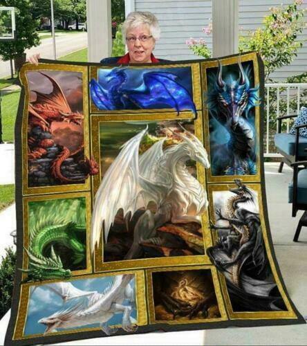 Dragon Photo Frames Fleece Blanket 50x60; 60x80 Made In US