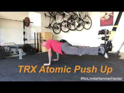 The Trx Atomic Push Up Tackles A Variety Of Fitness Elements 1 Push 2 Crunch With A Hip Hinge 3 Stability 4 Cor Abdominal Exercise Equipment Ab Roller Trx