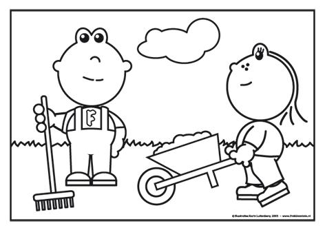 frokkie en lola aan het werk in de tuin frokkie en lola