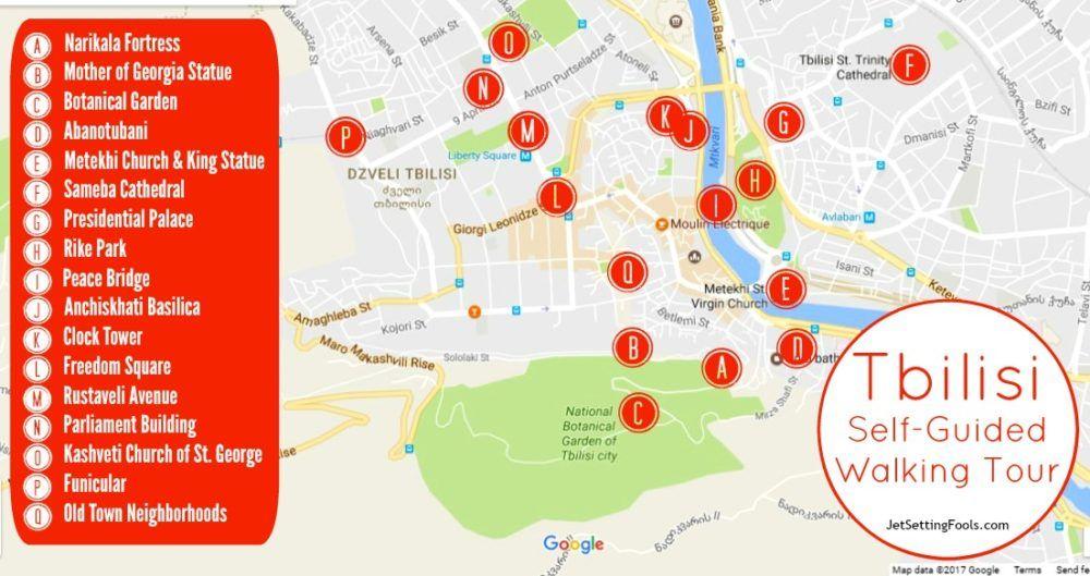 Dmanisi Georgia Map.Tbilisi Self Guided Walking Tour A Georgia Experience Travel