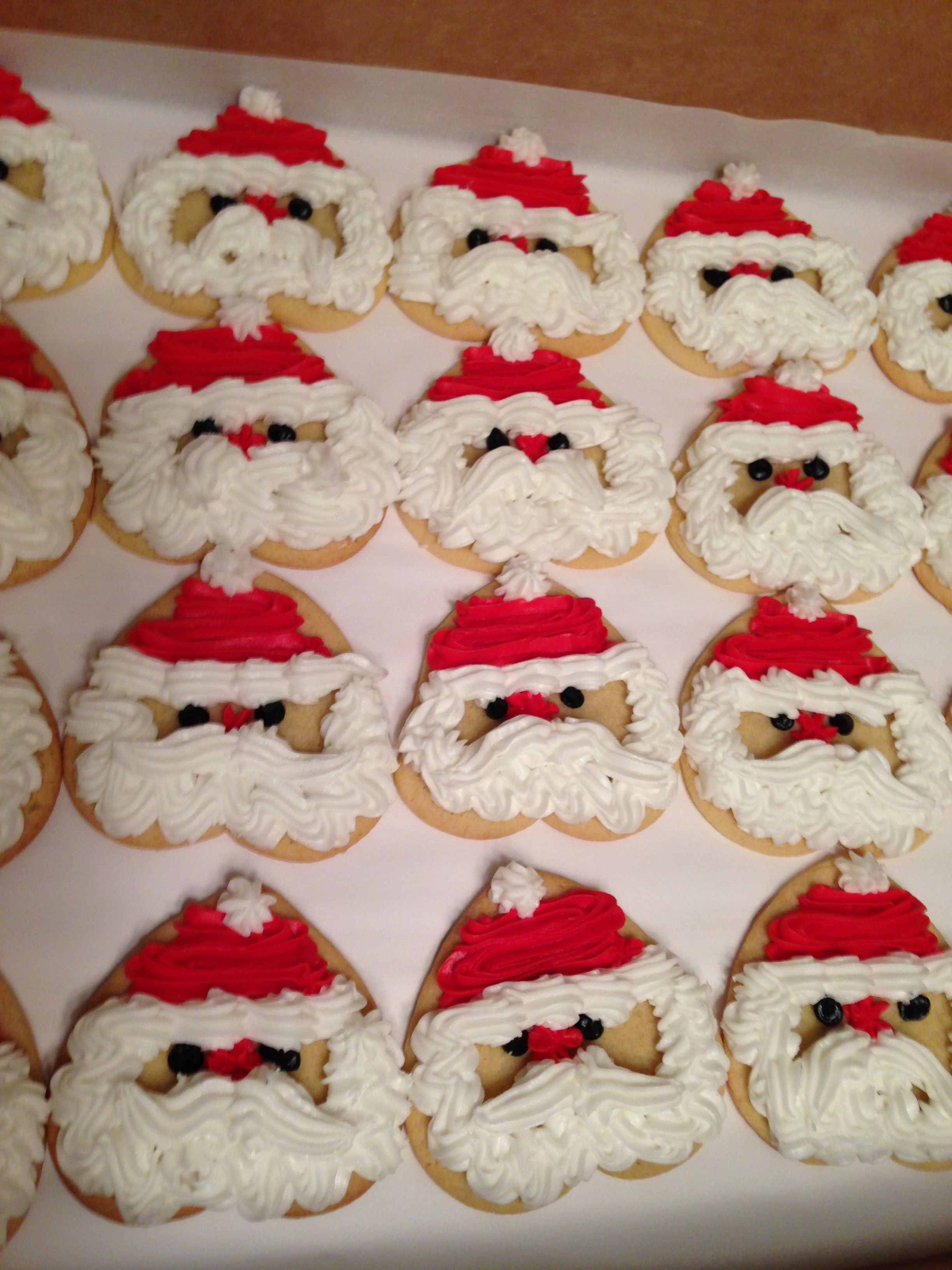 Santa Cookies Start With A Heart Shaped Sugar Cookie Cookies And