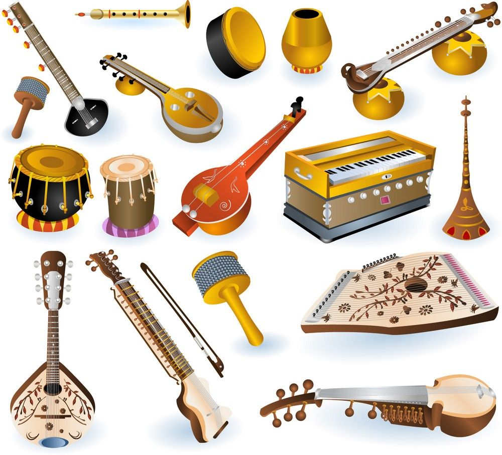 Indian Musical Instruments Download Vector Indian Musical Instruments Musical Instruments Musicals