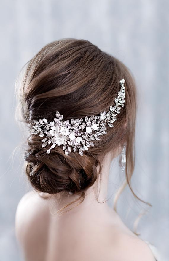 Wedding Bridal Crystal Rhinestone Hairpieces Hair Wreath Comb Hair Accessory