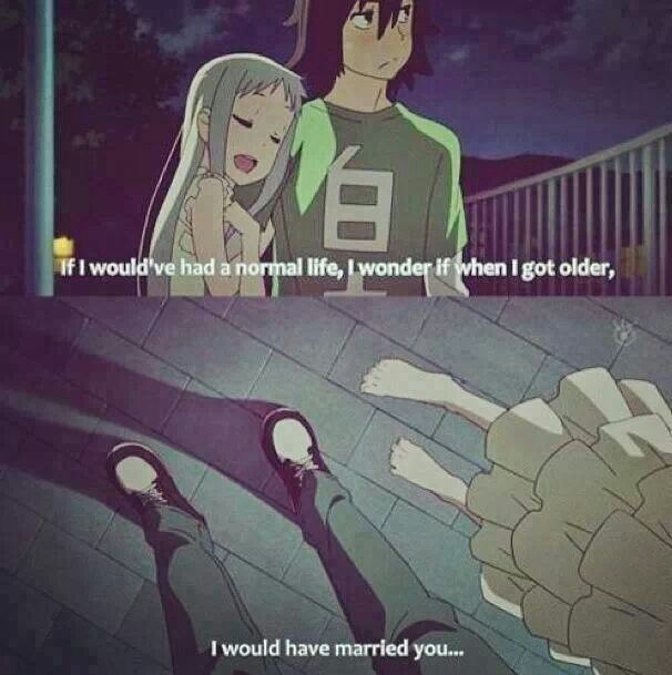 Married Couple Wallpaper With Quotes Anime Anohana The Flower We Saw That Day T T Really Sad