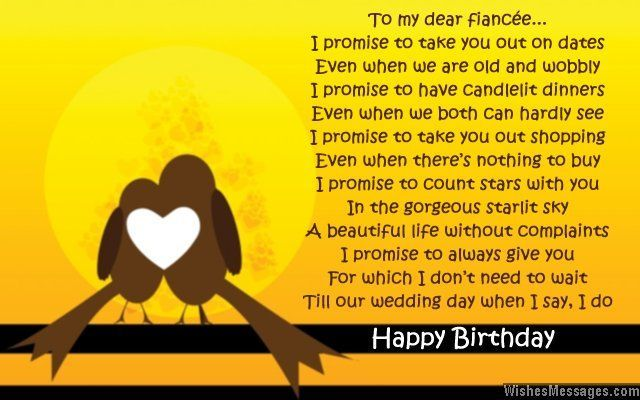Pin by Party Ideas on Birthday Poems | Fiance birthday