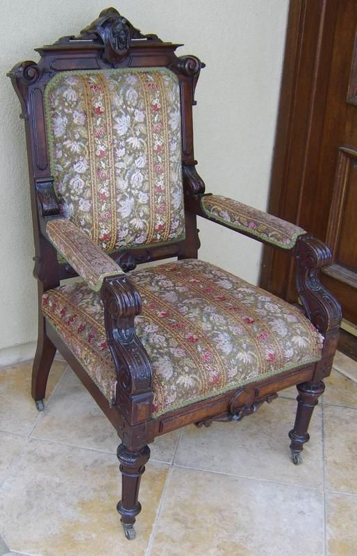 Best Antique Rare John Jelliff Walnut Arm Chair For Sale 640 x 480