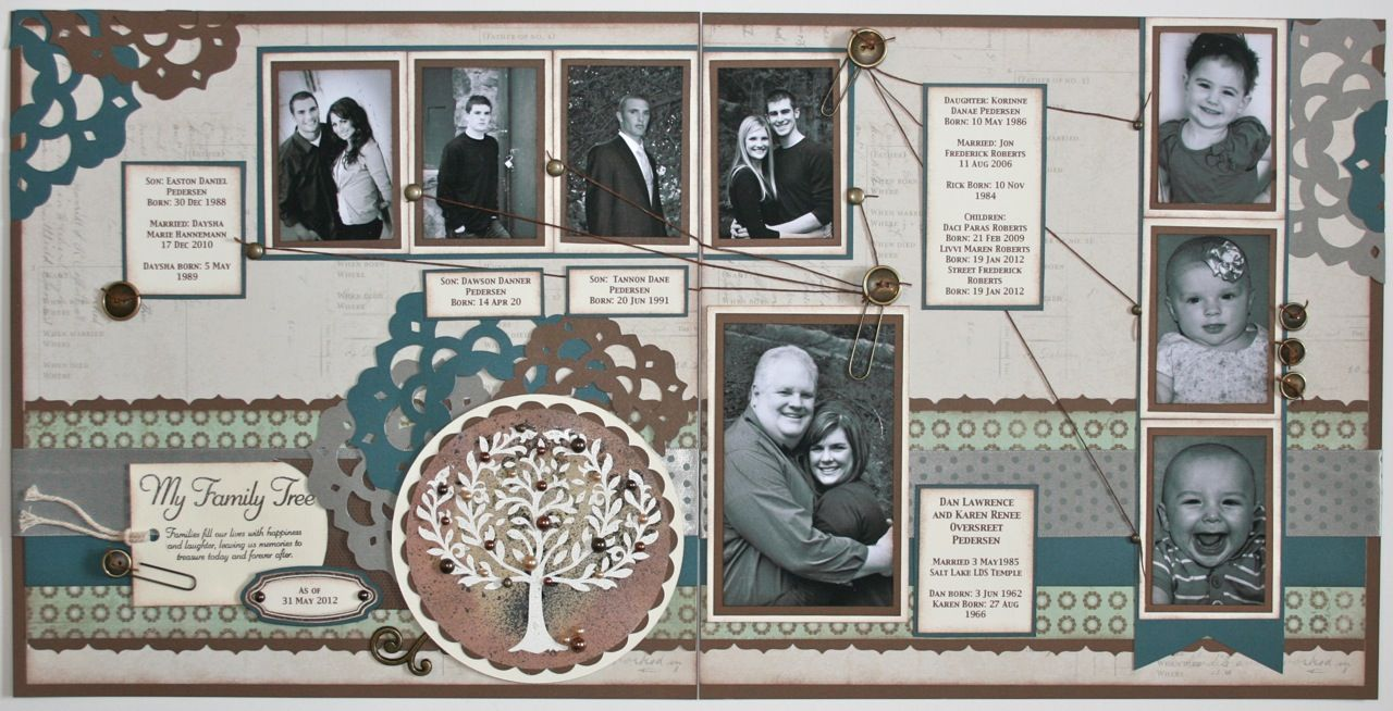 Karen Pedersen Family Tree Layout Crafting Ideas Pinterest