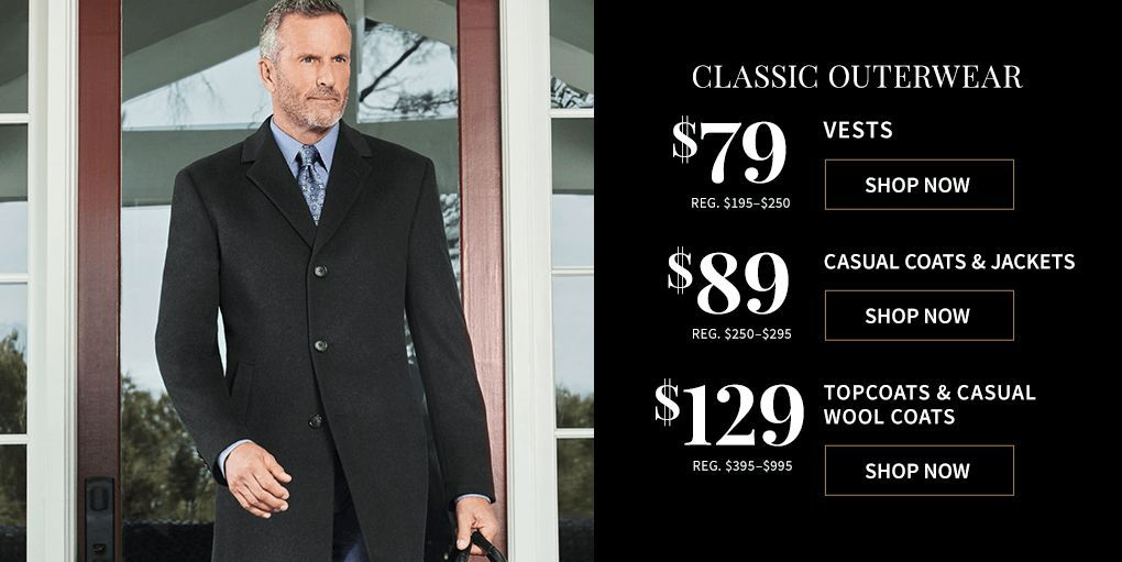 Promo Discount Deals Casual Coats And Jackets Now 89 From Jos A Bank For A Limited Time Sale Casual Coat Shop Vest Coupons