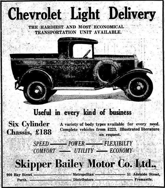 1929 Australian Chevrolet Coupe Ute Advert Transportation Unit