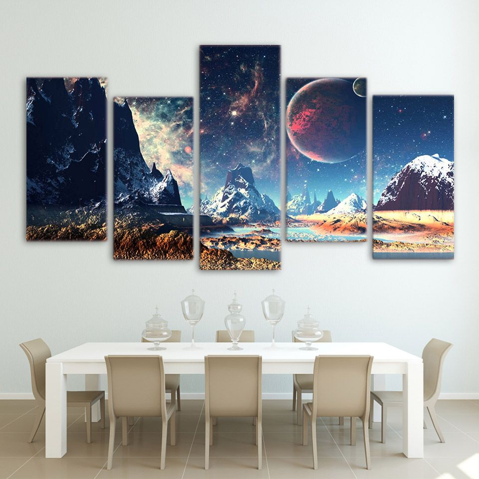 a9fbf90f58dc5 Artsailing HD Print 5 piece canvas art Mountains and Space Canvas ...