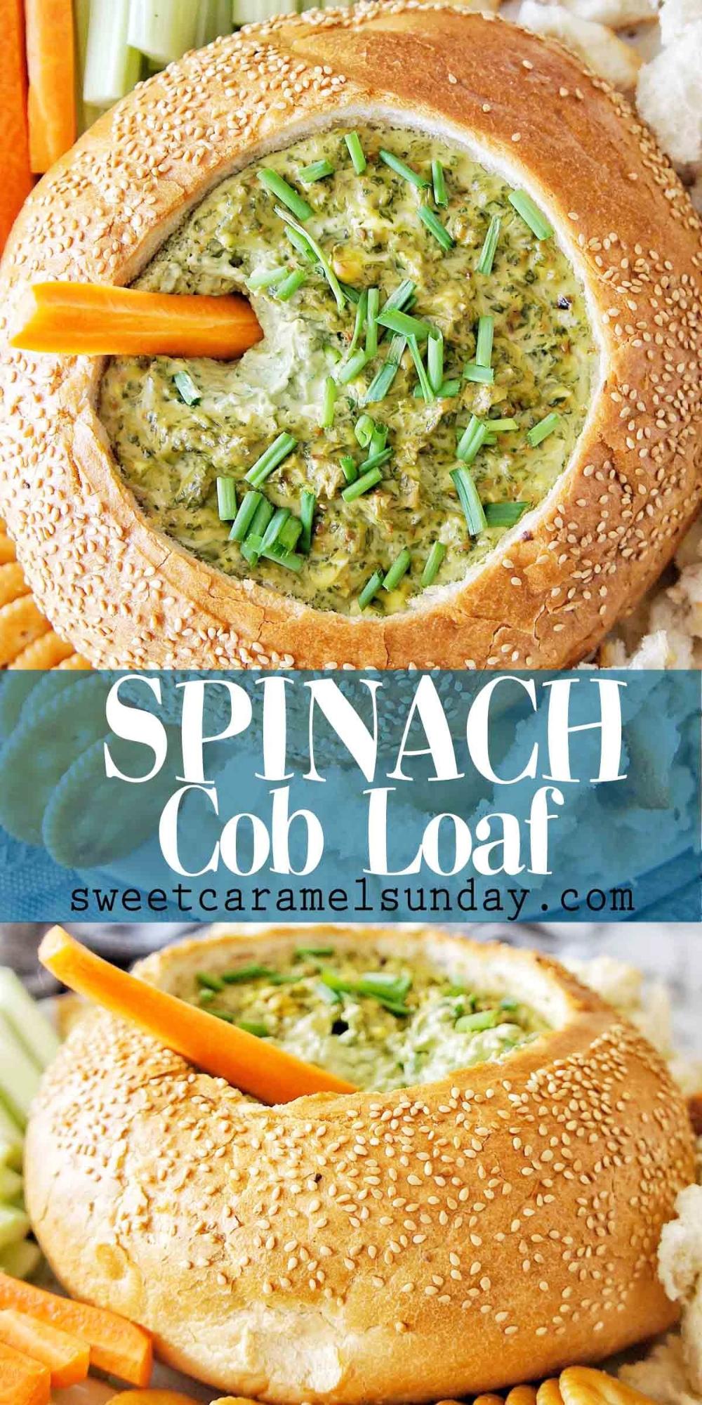 Spinach Cob Loaf Dip