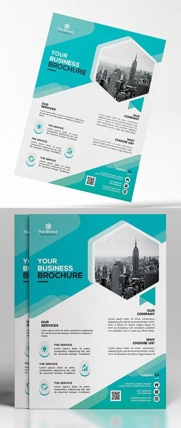 Corporate Flyer Template Branding Pinterest Flyer Template