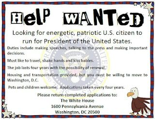Help Wanted Poster for President | President's | Pinterest | Cosas ...