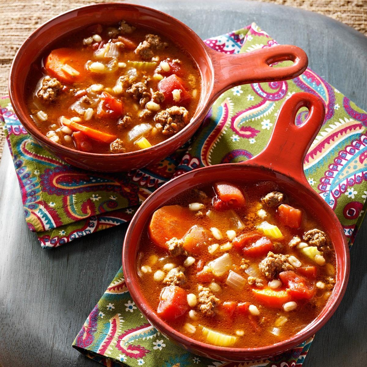 Ground Beef And Barley Soup Recipe In 2020 Barley Soup Beef Barley Soup Recipes