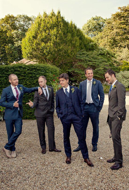 navy grooms suit | Photo by Marianne Taylor | Grooms & Groomsmen ...