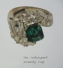 Nice Jackie Kennedy Wedding Ring. Jackie Had Design Changed When JFK Was Alive  Regretted After Death.