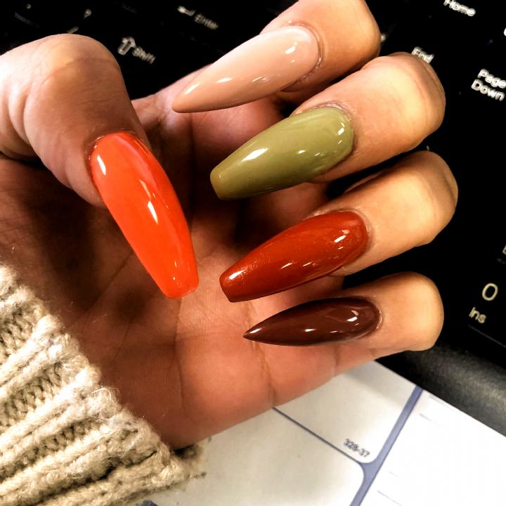 Fall Nails Long Nails Coffin Acrylic Nails Acrylic Fall Colors In 2020 Fall Acrylic Nails Cute Acrylic Nails Long Acrylic Nails