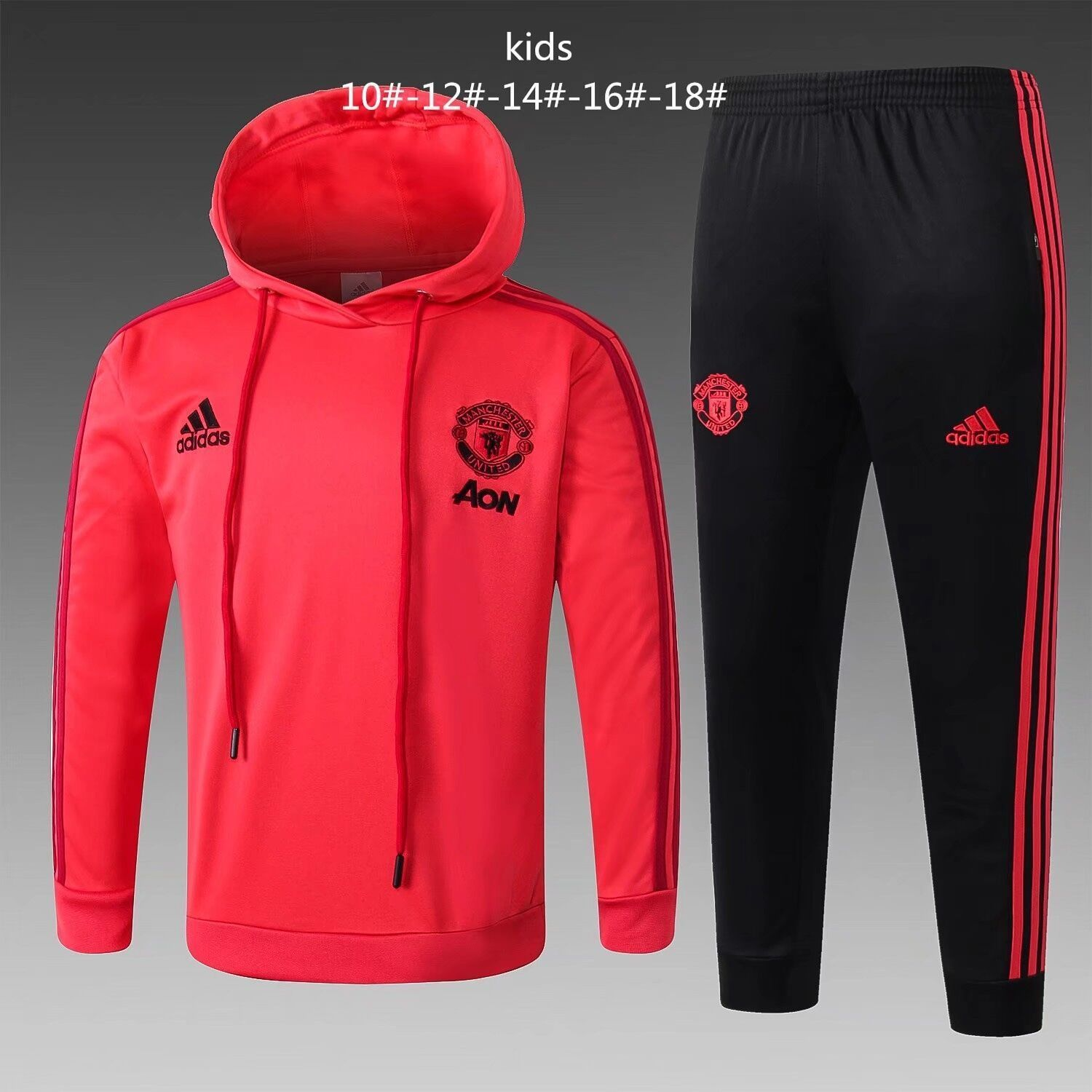 huge sale 4a264 5c44f Manchester United 18/19 Orange Hoodie Kids ( Youth ...