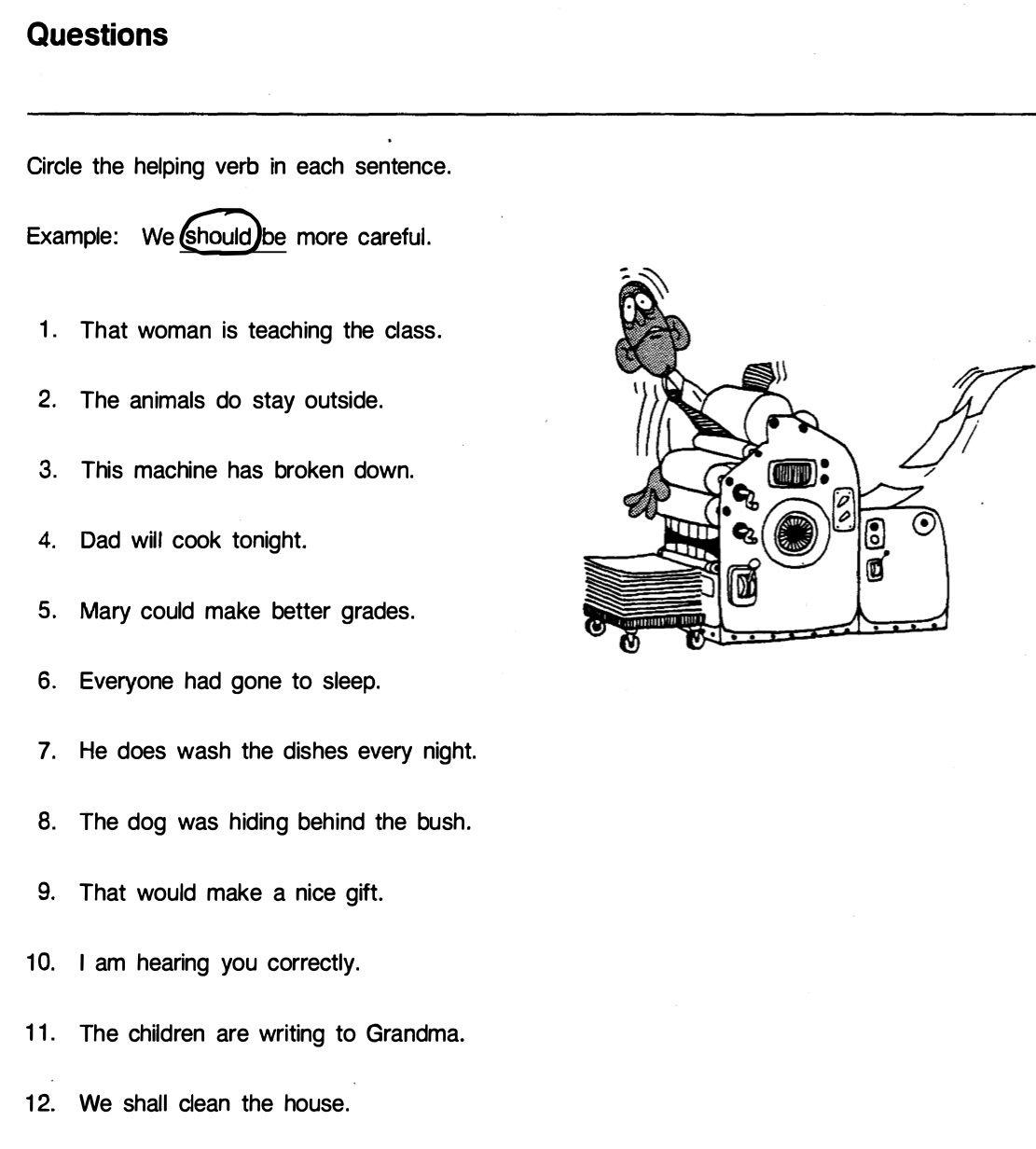 Questions Helping Verb Helping Verbs Grammar Sentences Good Grades [ 1232 x 1111 Pixel ]