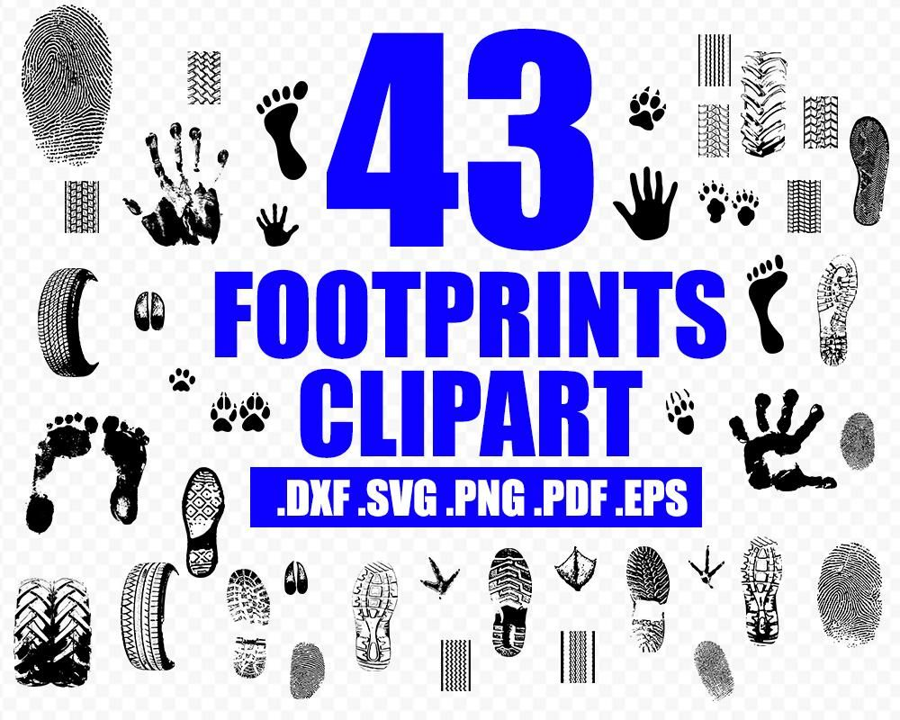 Handprint Vector Footprint Clipart Tread Prints Svg Car Wheels Car Wheels Diy Car Wheels Rims