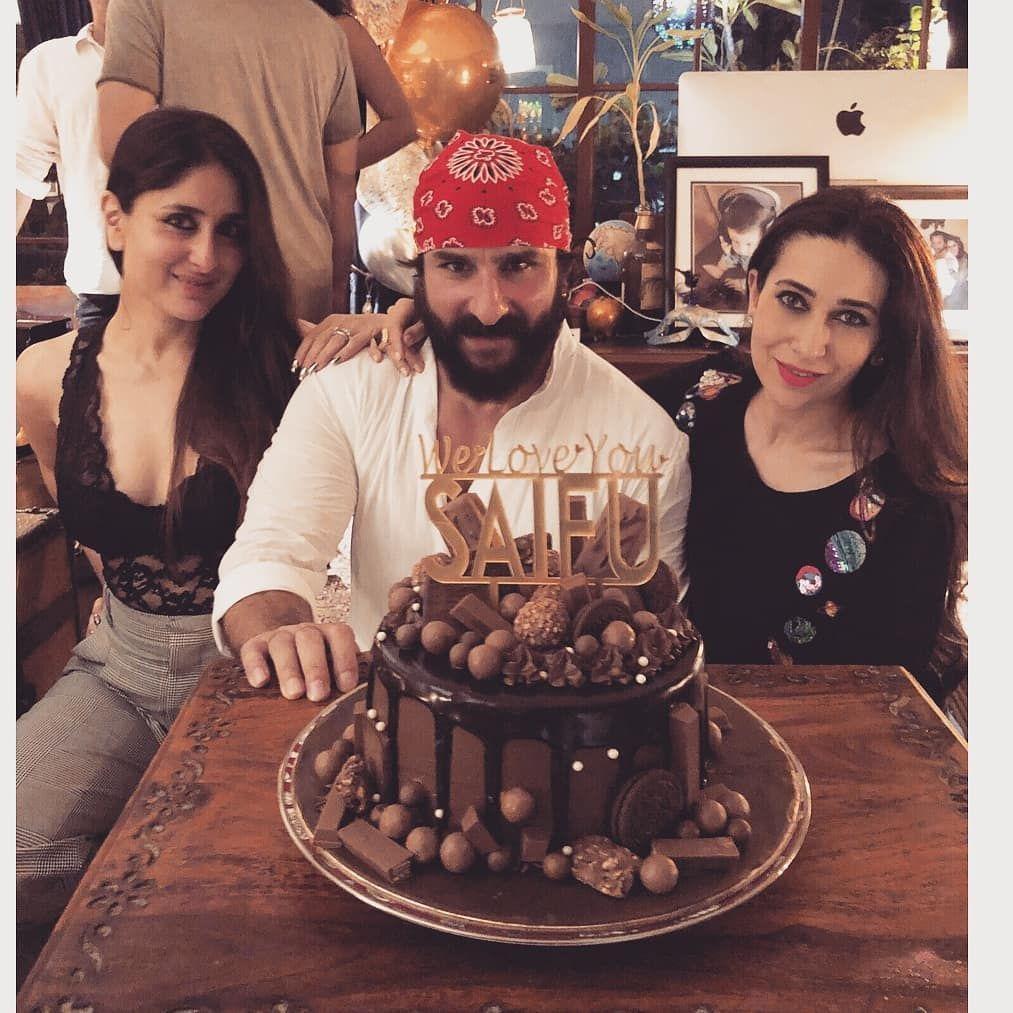 49 Likes 1 Comments Tellybeats On Instagram Wishing A Very Happy Birthday To Saifalikhan Kareena Kapoor Khan Kareena Kapoor Birthday Cakes For Women