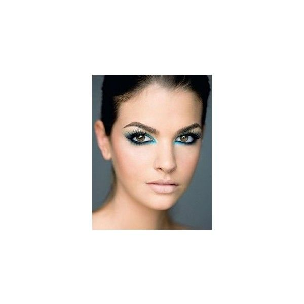 Get the Look 3 Turquoise Liners Inspired By Jessica Biel's Bold Eye... ❤ liked on Polyvore featuring beauty products, makeup, eye makeup, eyeliner, turquoise eyeliner and turquoise eye makeup