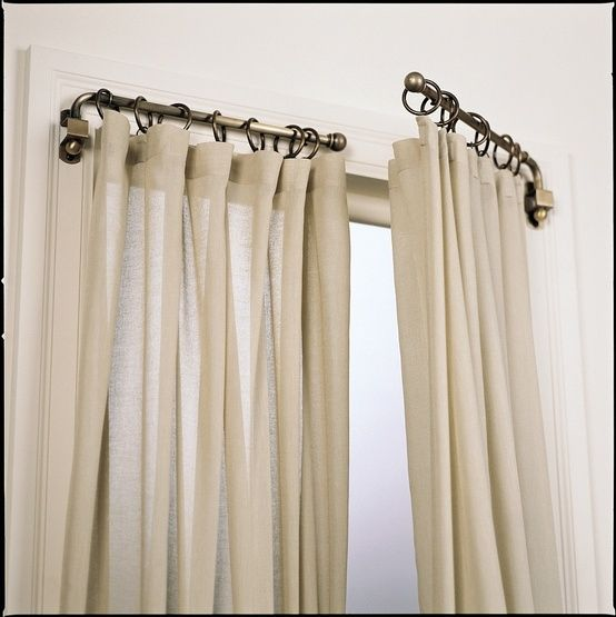 Swing Out Curtain Rods By DebraTefft
