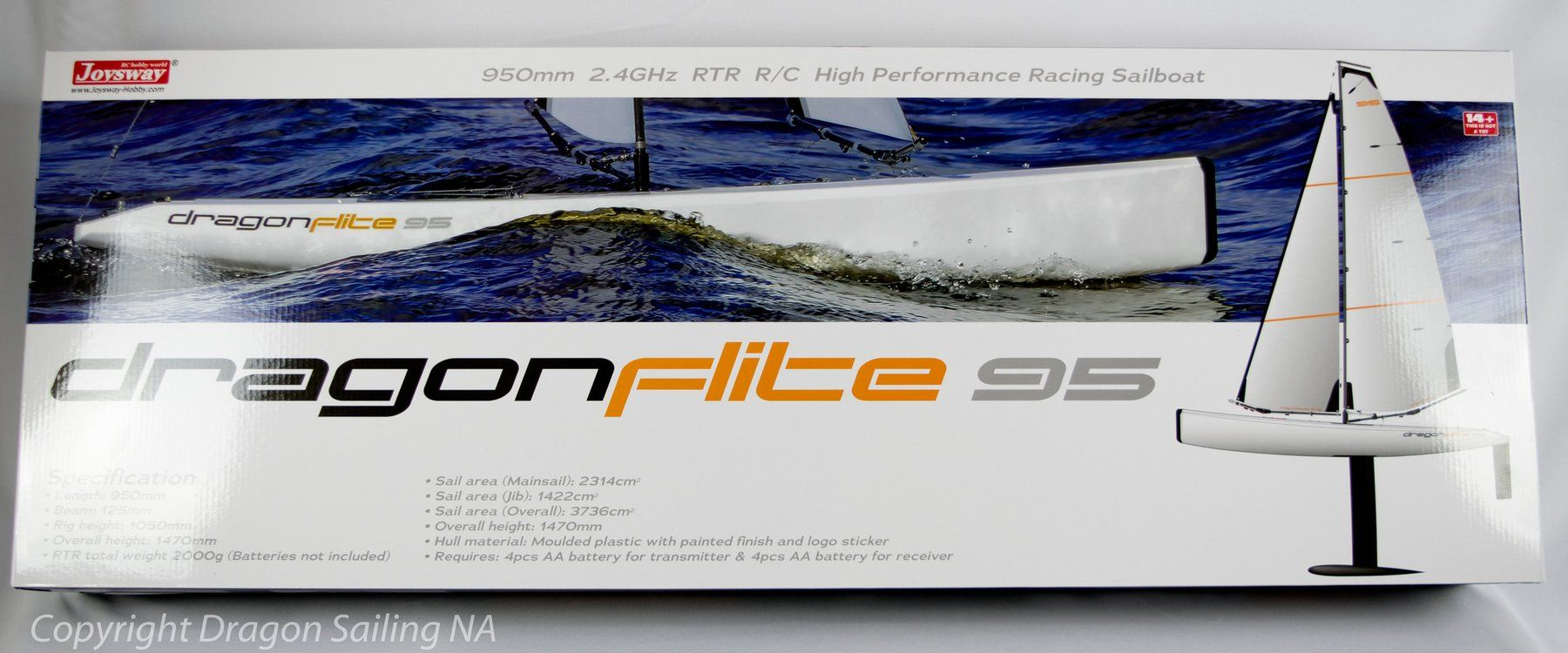 DragonForce 65 2019 Version 6 650mm DF65 Class RC Sailboat