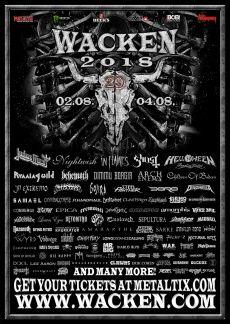 Wacken Open Air 2018 Wacken Wacken 2018 Musikfestival Poster