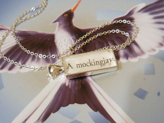 """""""A mockingjay"""", something you'll only find in Panem. So Hunger Games!"""