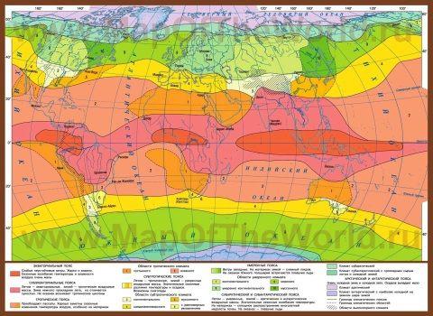 Karta Klimaticheskih Zon Mira Karta Geografiya Rabochie Tetradi
