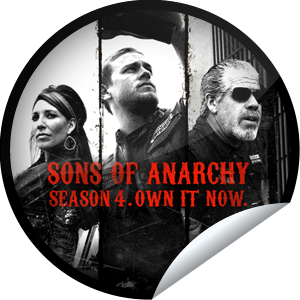 Sons of Anarchy Season 4 on DVD Sticker   GetGlue