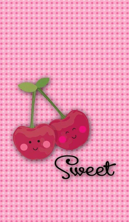 Kawaii Sweet Cherries Wallpaper Wallpaper Iphone Cute Phone Wallpaper Patterns Iphone Wallpaper