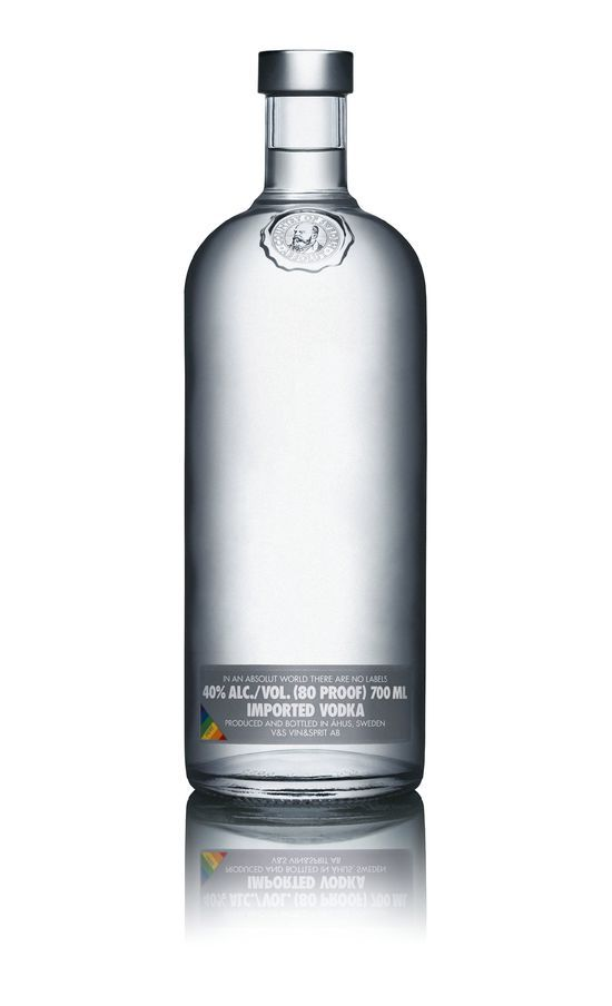 Absolut No Label | Absolut vodka and Packaging design