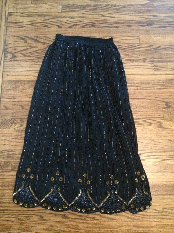 3241a429d Women's vintage 1980's silk maxi skirt. Size XL in 2019   Products ...