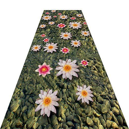 Best Guorrui Runner Rugs 3D Flowers Pattern Low Pile Thermal 400 x 300
