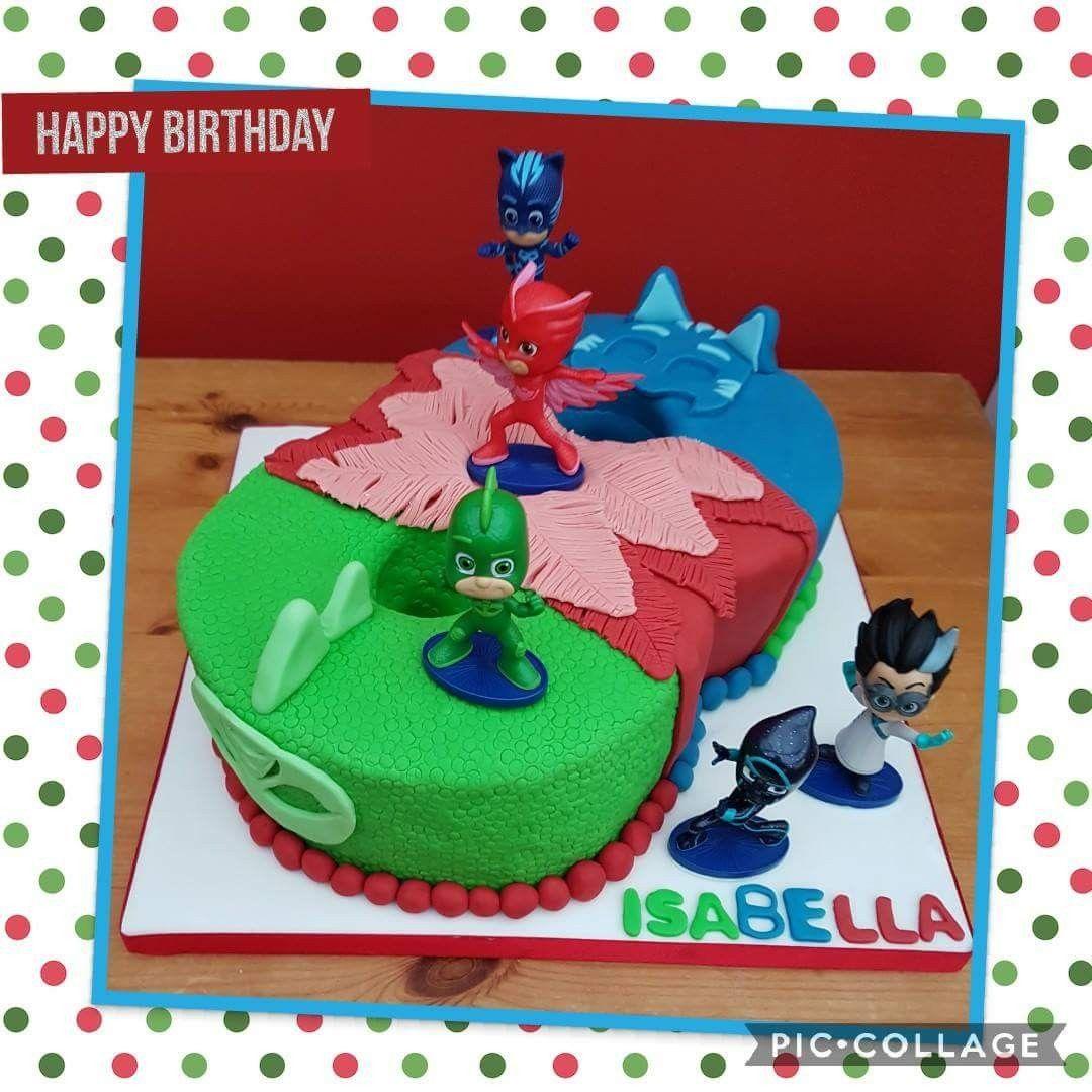 Pj Masks Number 8 Birthday Cake Kids Cake Ideas Pinterest Pj