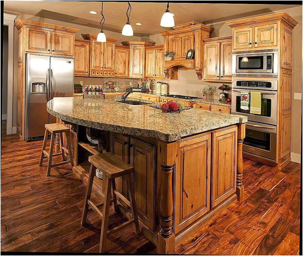 Lovely Kitchen Color Ideas With Hickory Cabinets
