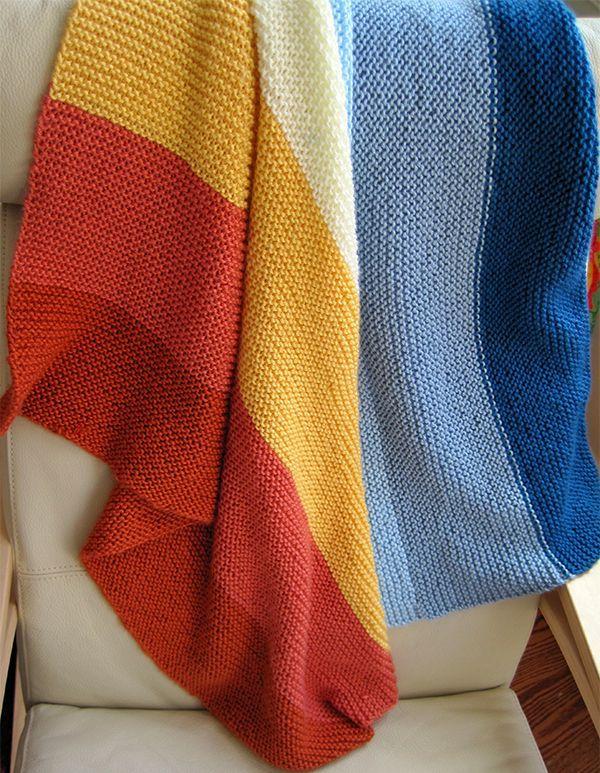 easy knit baby blanket | Easy Knitted Baby Blankets | Pinterest ...