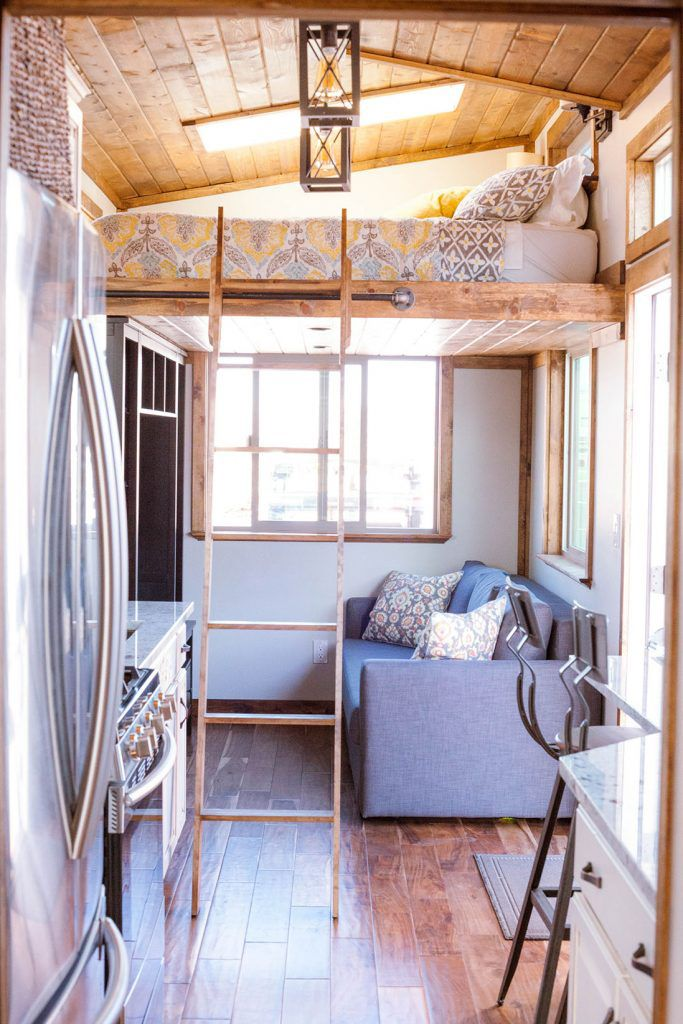 Teton by Alpine Tiny Homes Bedroom loft Queen bedroom and Loft