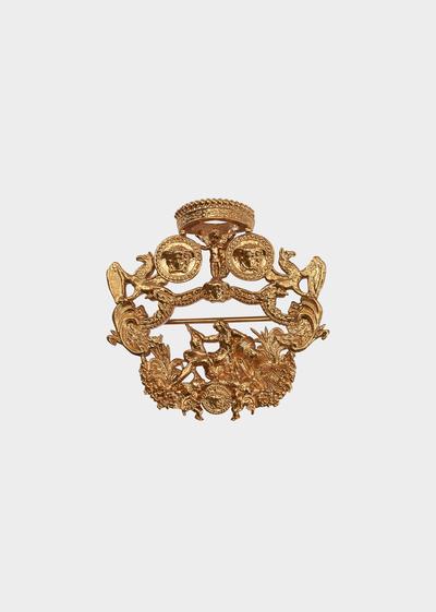 ec56536344 Blasone Barocco Pendant Pin - Gold Tie Bars & Brooches   Accessories ...