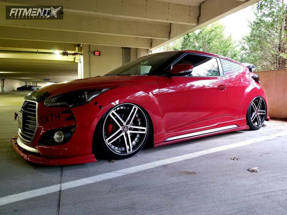 1 2016 Veloster Hyundai D2 Racing Air Suspension Axe Wheels Ex20 Polished Www Fitmentindustries Com Hyundai Veloster Veloster Turbo Hyundai