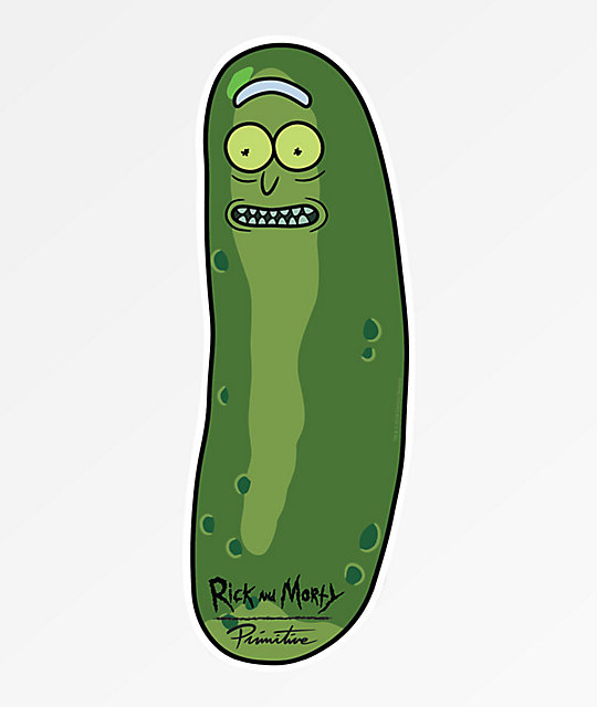 Primitive X Rick And Morty Pickle Rick Sticker Zumiez Rick And Morty Stickers Rick And Morty Rick And Morty Drawing
