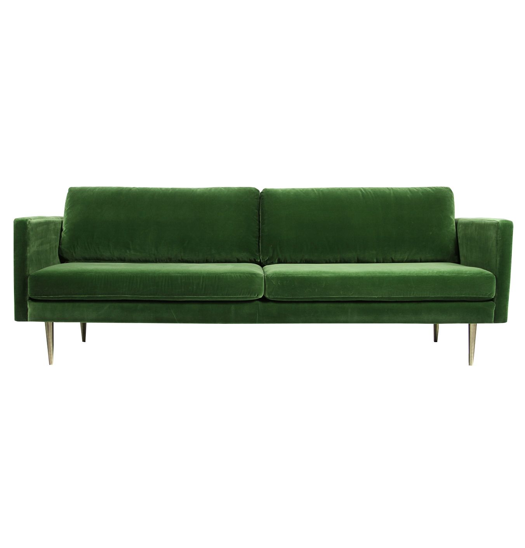 The Big Apple Velvet 3 Seater Sofa Sofa Green Velvet Sofa 3