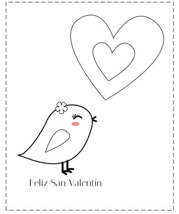 Tarjetas De San Valentin Para Colorear Manualidades Dibujos De San Valentin Manualidades De San Valentin Para Ninos Patrones De Bordado