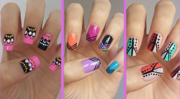 Simple Nail Art Designs Step By Step At Home For Short Nails14   Knowledge  Fans