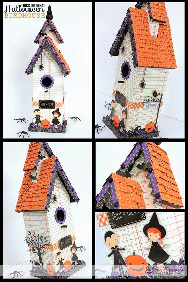 Trick or Treat Halloween Birdhouse by Juliana Michaels Halloween - michaels halloween decorations