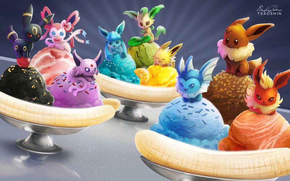 Eeveelution ice cream
